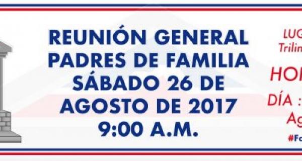 Reunión general de padres de Familia Anglohispano 2017-18